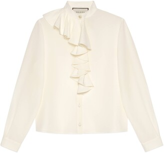 Gucci Crepe de Chine shirt with jabot