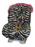 Baby Bella Maya Toddler Car Seat Cover in Zoe Zebra with Pink Ruffle by Baby Bella Maya