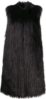 Twin-Set faux-fur sleeveless coat