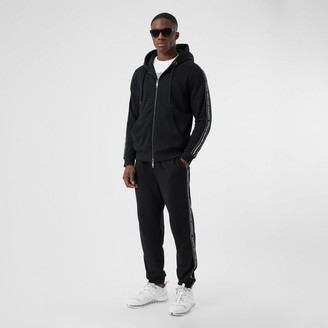 Burberry ogo Tape Cotton Trackpants