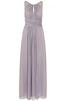 Quiz Grey Chiffon High Neck Embellished Maxi Dress