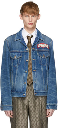 Gucci Blue Denim Oversize Patches Jacket