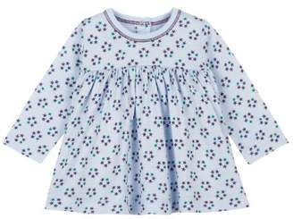 Petit Bateau 64617760 Girls' Long-Sleeved Blouse - Bath/Multi-Coloured - Blue - 3-6 Months