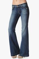 7 For All Mankind Vintage 7 Collection: Dojo Original Trouser In Grinded Blue