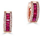 Effy Amore Diamond, Ruby and 14k Rose Gold Earrings