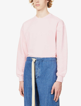 J.W.Anderson Logo-embroidered cotton-jersey jumper