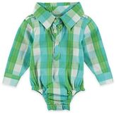 Rockin' Baby Out of Africa Oliver Checked Woven Long Sleeve Bodysuit