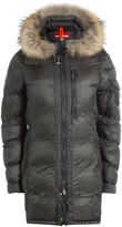 Parajumpers Connie Down Jacket with Fur-Trimmed Hood