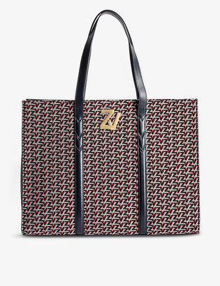 Zadig & Voltaire ZV Initiale Le Tote leather monogram tote bag