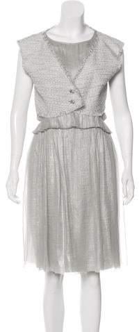 Chanel Metallic Tweed Dress Set