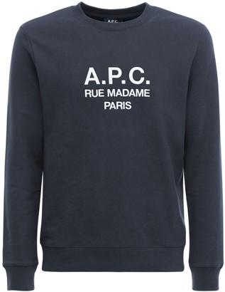 A.P.C. Logo Embroidery Cotton Sweatshirt