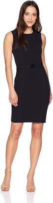 Calvin Klein Women's Sleeveless Lux Belted Dress