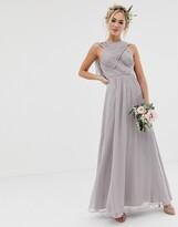Asos Design DESIGN Bridesmaid cross front soft drape maxi dress