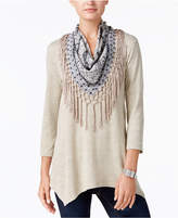 Style&Co. Style & Co Style & Co Petite Removable Scarf Tunic, Created for Macy's