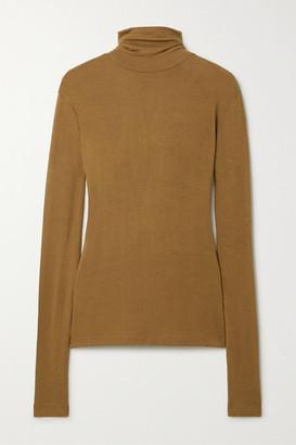 Totême Arenzano Stretch-knit Turtleneck Sweater - Tan