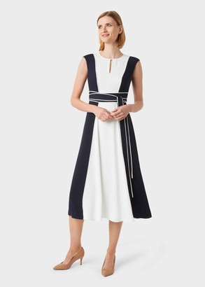 Hobbs Rae Colourblock Fit And Flare Dress