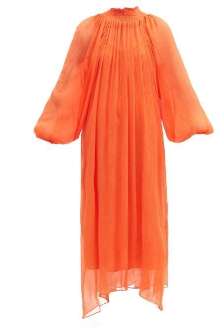Mara Hoffman Edmonia Tencel Crinkled-chiffon Dress - Orange