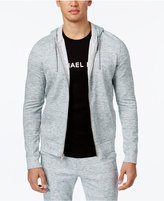 Michael Kors Men's Heathered Zip-Front Hoodie