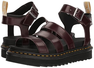 Dr. Martens Vegan Blaire (Black Felix Rub Off/Black Soft PU) Women's Sandals