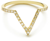 MINED 14k Gold & Diamond V Ring, Assorted Colors