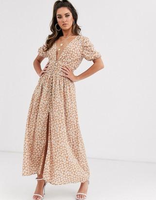 Bec & Bridge zoe floral midi dress in floral
