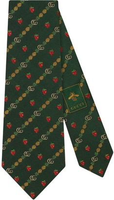 Gucci Double G pineapple strawberry tie