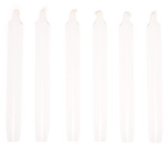 Cire Trudon Madeleine Set Of Six Tapered Candles - White