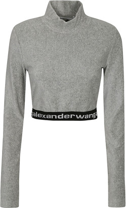 Alexander Wang Stretch Corduroy Cropped Sweatshirt