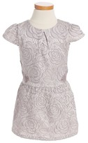 Ruby & Bloom Toddler Girl's Floral Jacquard Dress