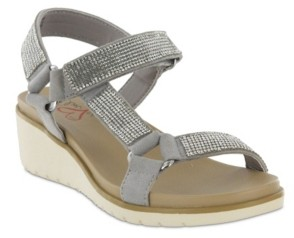 Mia Amore Cartia Rhinestone Women's Wedge Sandal Women's Shoes