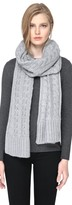 Soia & Kyo MIRI Extra long knit scarf in Ash