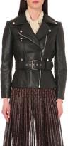 Alexander McQueen Slim-fit leather biker jacket