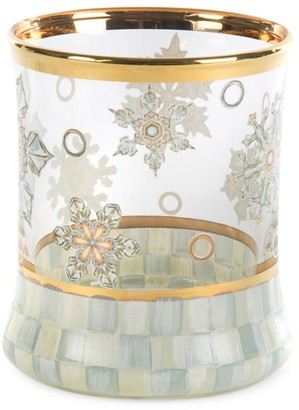 Mackenzie Childs Snowfall Tumbler Glass