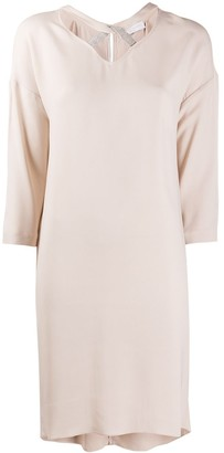 Fabiana Filippi Cotton Shift Midi Dress