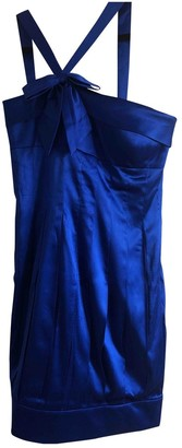 Aidan Mattox Blue Silk Dress for Women