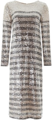 In The Mood For Love Bettina Sequined Midi Dress