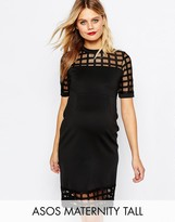 Asos TALL Cage Insert Bodycon Dress