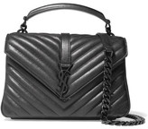 Saint Laurent College Medium Quilted Leather Shoulder Bag - Black
