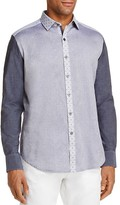 Robert Graham Chambray Contrast Slim Fit Button-Down Shirt