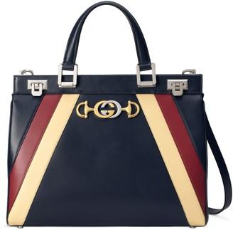 Gucci MediumTricolor Leather Top Handle Bag