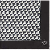 Canali Arrowhead Print Silk Pocket Square