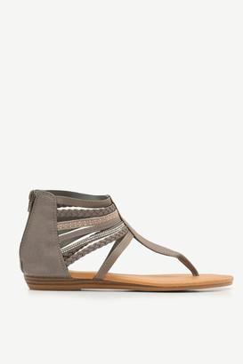 Ardene Gladiator T-Strap Sandals