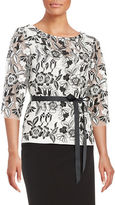 Alex Evenings Floral Lace Embroidered Top