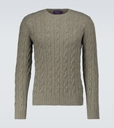 Thumbnail for your product : Ralph Lauren Purple Label Cable-knitted cashmere sweater