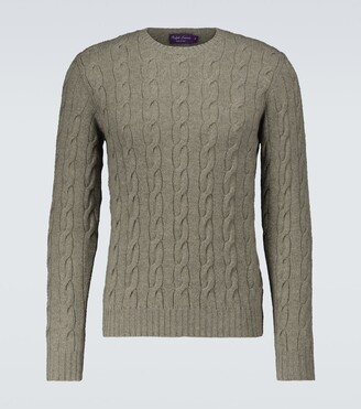 Ralph Lauren Purple Label Cable-knitted cashmere sweater