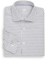 Bugatchi Shaped-Fit Mini Plaid Cotton Dress Shirt
