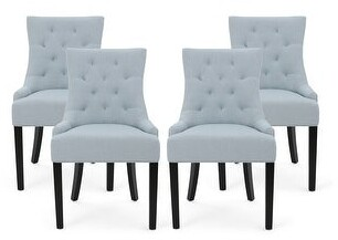 Christopher Knight Home Hayden Tufted Fabric Dining Chairs