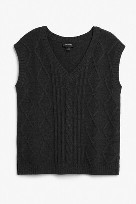 Monki Cable knit vest