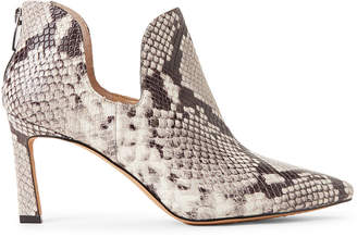 Vince Camuto Black & White Randin Python Ankle Booties