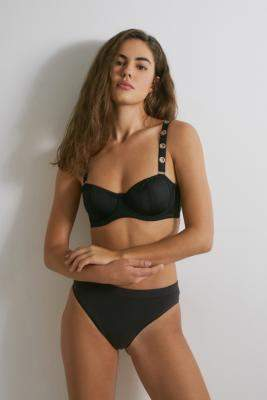 Out From Under Rita Eyelet Balconette Bra - black XS at Urban Outfitters